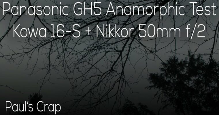 My First Anamorphic Test – Kowa 16-S